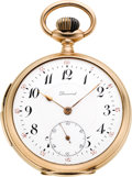 Timepieces:Pocket (post 1900), Dunand 14k Gold Quarter Hour Repeater, circa 1905. ...