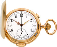 Record, Swiss, 18k Gold Minute Repeater With Chronograph, circa 1908