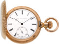 Timepieces:Pocket (pre 1900) , Elgin Choice 14k Rose Gold Convertible Bridge Model, circa 1880....