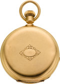 Timepieces:Pocket (pre 1900) , Patek Philippe & Co. Early Gold Keyless Pocket Watch, circa1873. ...