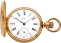 Timepieces:Pocket (pre 1900) , Waltham 14k Gold Model 72 Riverside, circa 1886. ...