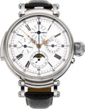 Timepieces:Wristwatch, Swiss Unique Minute Repeating Custom Wristwatch With Moon Phase, Calendar & Chronograph. ...