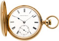 Timepieces:Pocket (pre 1900) , Waltham Scarce Model 1860 Key Wind Original Gold Case, circa 1865. ...