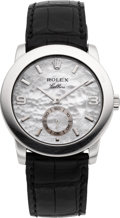 Timepieces:Wristwatch, Rolex Ref. 5240 Platinum Cellini With Mother-Of-Pearl Dial, circa2002. ...