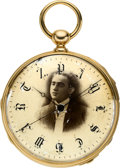 Timepieces:Pocket (pre 1900) , Paul Garnier Rare Gold Quarter Repeating Two Train With Independent Dead Beat Center Seconds & Unusual Dial, circa 1840. ...