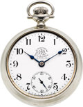 Timepieces:Pocket (post 1900), Ball & Co. 21 Jewel Official Brotherhood of Locomotive Firemen (Hamilton), circa 1902. ...