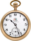 Timepieces:Pocket (post 1900), Ball Rare Triple Marked Brotherhood of Railroad Trainmen 17 Jewel Grade 999, circa 1908. ...