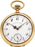 Timepieces:Pocket (post 1900), Patek Philippe & Cie 18k Gold Watch For Bailey Banks &Biddle, circa 1909. ...