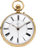 Timepieces:Pocket (pre 1900) , Thomas Halliwell, Dewsbury, Large 18K Gold Center Seconds, circa1870's. ...