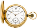 Timepieces:Pocket (pre 1900) , Waltham Rare 18k Gold Five Minute Repeater, circa 1888. ...