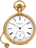 Timepieces:Pocket (pre 1900) , J. Alfred Jurgensen First Quality 18k Gold Minute Repeater, BowSet, circa 1890's. ...
