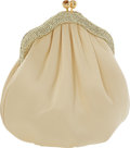 "Luxury Accessories:Bags, Judith Leiber Pale Yellow Satin & Yellow Crystal Lemon Drop Evening Bag, 6"" x 6"" x 3"", Pristine Condition. ..."