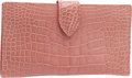 "Luxury Accessories:Accessories, Lana Marks Shiny Light Pink Alligator Continental Wallet, 7"" x 4"",Excellent Condition. ..."