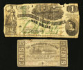 Confederate Notes:1862 Issues, T45 $1 1862 and a Mississippi Obsolete.. ... (Total: 2 notes)