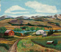 Fine Art - Painting, American:Modern  (1900 1949)  , ABRAHAM WALKOWITZ (American, 1880-1965). Country Landscape. Oil on masonite. 19 x 22 inches (48.3 x 55.9 cm). Signed low...