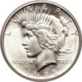 Peace Dollars, 1923-D $1 MS66 PCGS. CAC....