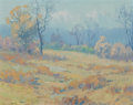 Western, FROM A PRIVATE COLLECTION IN NORTH TEXAS. MAURICE BRAUN (American, 1877-1941). Landscape. Oil on artist's board. 8 x 1...