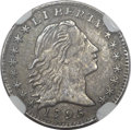 Early Half Dimes, 1795 H10C -- Improperly Cleaned -- NGC Details. AU. V-5, LM-8,R.3....