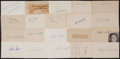 Baseball Collectibles:Others, Baseball Greats Signed Index Cards Lot of 22. ...