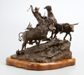 Sculpture, G. HARVEY (American, b. 1933). The Trail Driver, 1973. Bronze with patina. 15 x 19 x 17 inches (38.1 x 48.3 x 43.2 cm). ...