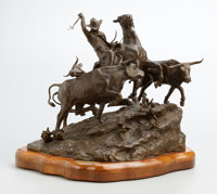 G. HARVEY (American, b. 1933) The Trail Driver, 1973 Bronze with patina 15 x 19 x 17 inches (38.1