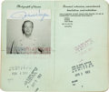 Movie/TV Memorabilia:Memorabilia, A Twice-Signed Passport, 1960....