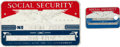 Movie/TV Memorabilia:Memorabilia, A Social Security Card, 1960s.... (Total: 2 )