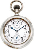 Timepieces:Pocket (post 1900), Elgin Father Time Free Sprung 18 Size Wind Indicator, circa 1918. ...