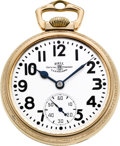Timepieces:Pocket (post 1900), Ball Watch Co. 23 Jewel Grade 998 Elinvar, circa 1941. ...