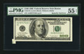 Error Notes:Foldovers, Fr. 2175-A $100 1996 Federal Reserve Note. PMG About Uncirculated55 EPQ.. ...