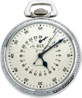 Timepieces:Pocket (post 1900), Longines Navigation Master Watch With Wind Indicator, circa 1940's. ...