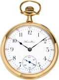 Timepieces:Pocket (post 1900), Hamilton 23 Jewel 14k Gold Grade 950, circa 1913. ...