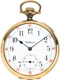 Timepieces:Pocket (post 1900), Waltham 23 Jewel 14k Gold Riverside Maximus, circa 1904. ...