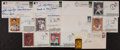 Baseball Collectibles:Others, Baseball Stars and Hall of Famers Signed First Day Covers Lot of11...