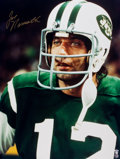 Football Collectibles:Photos, Joe Namath Signed Oversized Photograph. ...