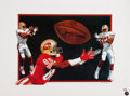 Football Collectibles:Others, Jerry Rice Signed Lithograph. ...