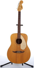 Musical Instruments:Acoustic Guitars, 1960's Fender Concert Natural Acoustic Guitar #01199....