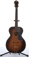 Musical Instruments:Acoustic Guitars, Kay De Luxe Sunburst Archtop Acoustic Guitar # N/A....