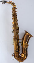 Musical Instruments:Horns & Wind Instruments, 1940s Martin Indiana Band-Inst Alto Saxophone # N/A....