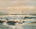, PAUL RICHARD SCHUMANN (American, 1876-1946). Sunlit Waters.Oil on board. 13 x 16 inches (33.0 x 40.6 cm). Signed lower ...
