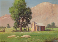 ROBERT WILLIAM WOOD (American, 1889-1979) Mt. Tom, Laxague Ranch (Bishop, CA), 1947 Oil on artist's
