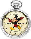 Timepieces:Pocket (post 1900), Smiths Mickey Mouse Watch With Box, circa 1950's. ...