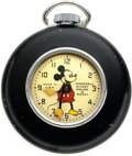 Timepieces:Pocket (post 1900), Ingersoll Mickey Mouse Model #4 Pocket Watch. ...