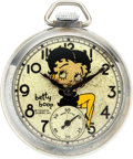 Timepieces:Pocket (post 1900), E. Ingraham Rare Betty Boop Watch, circa 1934. ...