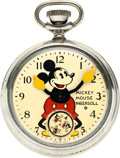 Timepieces:Pocket (post 1900), Ingersoll Model 1 Mickey Mouse, Box & Fob, circa 1933. ...