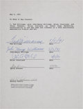 Baseball Collectibles:Others, 1991 Ted Williams Signed Contract....
