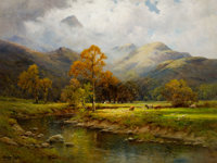 ALFRED FONTVILLE DE BREANSKI (British, 1877-1955) The English Lakes, Autumn in Easedale Oil on canva