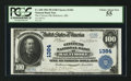 National Bank Notes:Maryland, Baltimore, MD - $100 1902 Plain Back Fr. 698 The Citizens NB Ch. #1384. ...