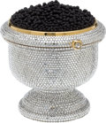 "Luxury Accessories:Bags, Kathrine Baumann #54/500 Full Bead Caviar Dish Minaudiere, 3"" x 5""x 2"", Excellent Condition. ..."