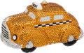 "Luxury Accessories:Accessories, Kathrine Baumann #6/500 Full Bead I Love NY Yellow Taxi CabMinaudiere, 6"" x 3"" x 3"", Excellent Condition. ..."